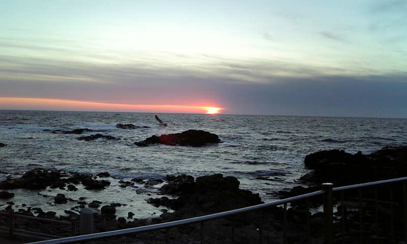 留萌の夕日